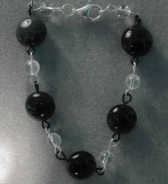 Rainbow Obsidian & Quartz Bracelet